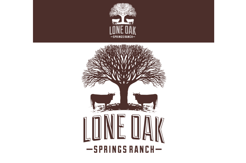 Lukasdesign | Client Lone Oak Springs Ranch | Logotype Design Gallery