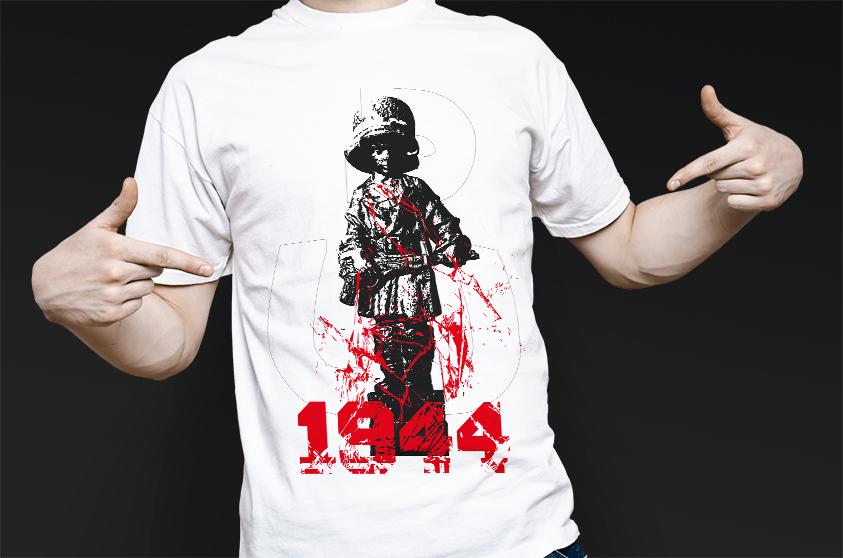 powstanie warszawskie koszulka